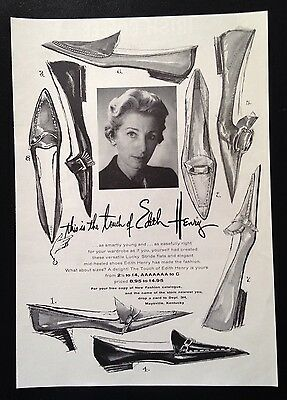 1961 Lucky Stride women's shoes designed by Edith Henry 8 style vintage print ad