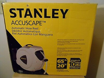 Used Stanley Accuscape 65' Automatic Hose Reel Retractable Grden Wter Bds6620