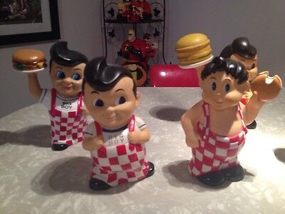 Frisch's Big Boy Burger Boy Bank Collectible Lot Vinyl Figure  Collection Toy 8""