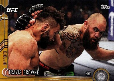 Travis Browne (#98) 2015 Topps UFC Chronicles Gold Parallel 52/88. New.