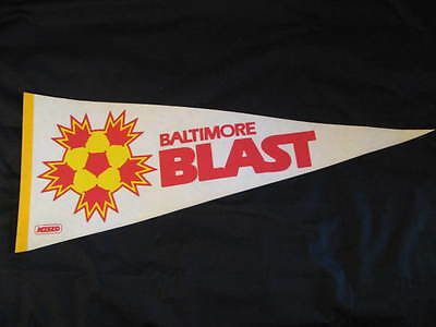 Rare AUTHENTIC VINTAGE 1980s MISL Soccer BALTIMORE BLAST Pennant
