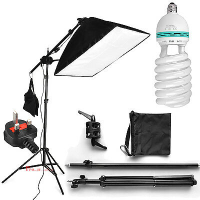 625W Photography Soft Box Continuous Lighting Studio Softbox Boom Arm Stand Kit