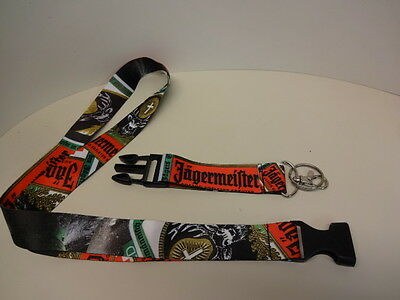 Jagermeister Lanyard  With Detachable Clip Key Ring