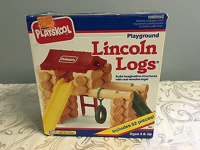 New In BOX PLAYSKOOL Lincoln Logs Playground #984 Complete 1992 Classic