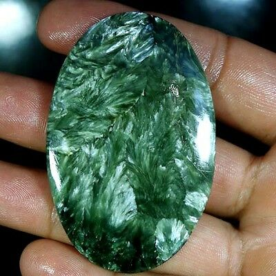 107.65Cts. Natural Designer Green Seraphinite Oval Cabochon Big Loose Gemstones