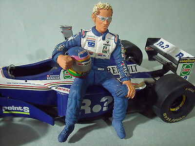 Figurine Jacques  Villeneuve  1/18  Williams  Renault  F1   Vroom   Unpainted