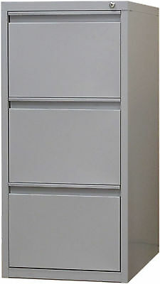 Office Steel 3 Drawer Filing Cabinet-  Light Grey or Graphite Ripple