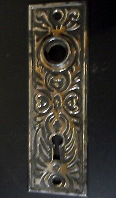 Antique Eastlake Style Door Knob Backplate-Copper Plated Stamped Steel-Nice-LOOK