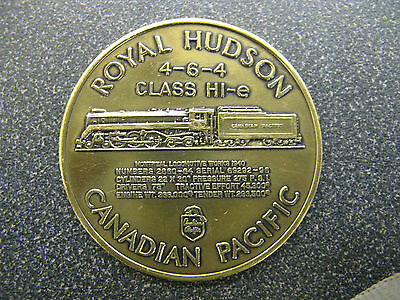 The Royal Hudson Canadian Pacific Token - Commemorative Of Locomative Excellence