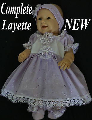 �� Lavender   ✿  Baby  Doll  ✿  Ooak ✿ 4 Piece  Dress Set ✿ New
