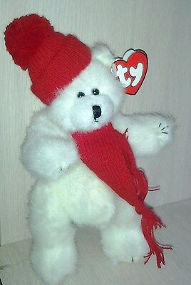 TY Plush White Winter Bear Peppermint The Attic Treasures Collection 1993