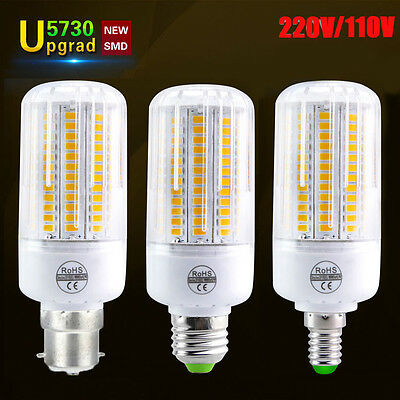 LED Corn Light E26 E27 E14 B22 High Power Bulbs 5730 SMD White Lamp 110V 220V