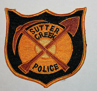 Very Old SUTTER CREEK POLICE Amador County California Pick & Shovel CA Vintage