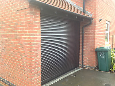 Electric Garage Door  Roller 7Ft X 7Ft New  Insulated With 2 Remotes  Black