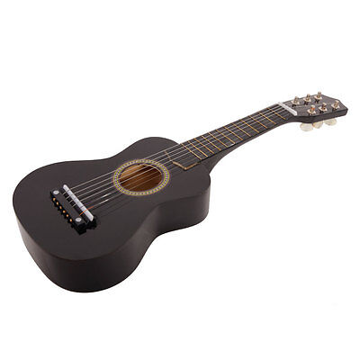 "New 21"" Black Kid Guitar Cheap Small 6 String Guitar Musical Instrument Childre"