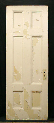 "2 avail 30""x82""x1.75"" Antique Interior Solid Wood Wooden Doors 6 Recessed Panels"