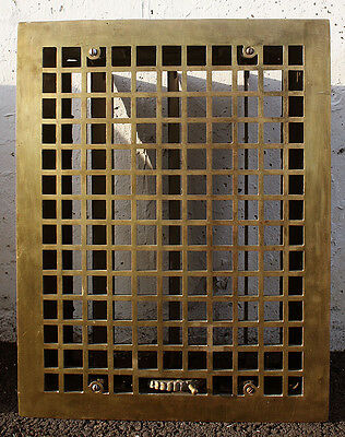 "5 avail 14""x18"" Antique Brass Iron Wall Floor Vent Register Grille Cover Grate"