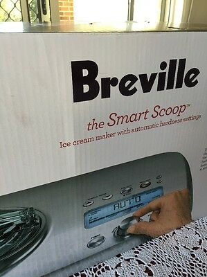 Breville Smart Scoop Ice Cream Maker. RRP $400. In box, as new.