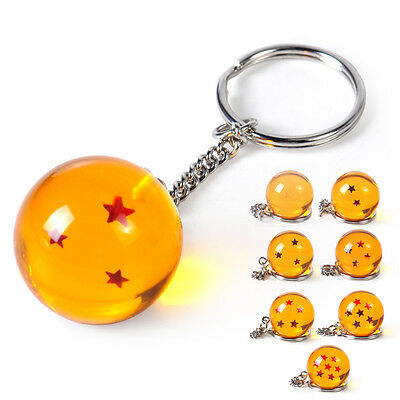 For Cosplay Dragon Ball Z DBZ 3D Star Keychain Keyring Pendant Anime Replacement