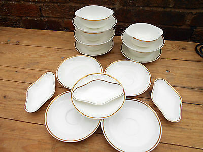 15 Assorted Royal Tuscan Wedgwood Bone Bowls Bases/Saucers & 3 Wedgewood Dishes