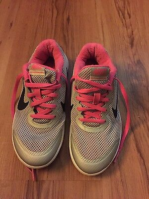 Unisex Pink and Grey nike trainers size 3