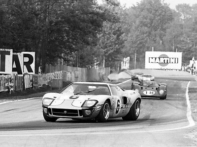 """Photo 30X40Cm 12X16"""" 24H 24 Heures Hours Du Le Mans Aco Ford Gt40 Gulf #6 ★1969★"""