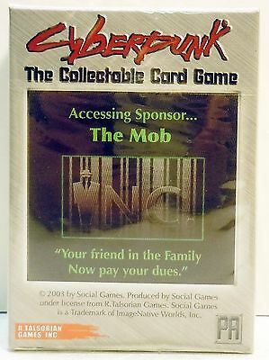 Cyberpunk Starter Deck CCG 2003 The Mob by R Talsorian Games Card New Sealed