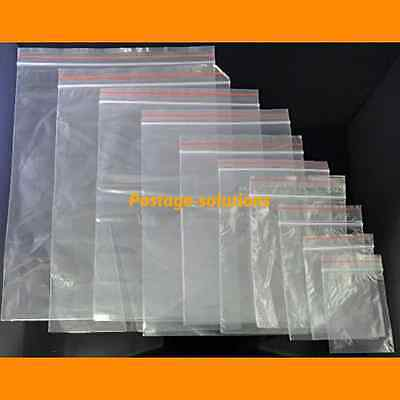 GRIPWELL Grip Seal Zip lock Bags Resealable Clear Plasstic ALL SIZES Cheapest!!
