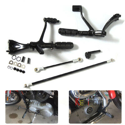 Complete Forward Controls W/Pegs Linkage for XL883 04-13 Sportster 883 BLACK