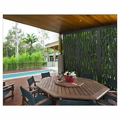 LARGE DECORATIVE PRIVACY SCREEN WALL FEATURE outdoor NATURe 2700X1200