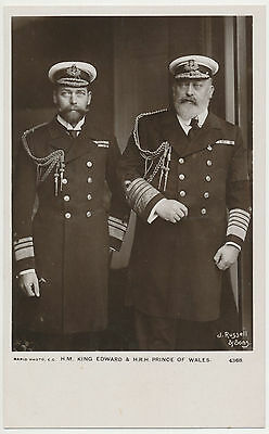 Old Postcard - Contemporary Photo of King Edward VII and the Prince of Wales
