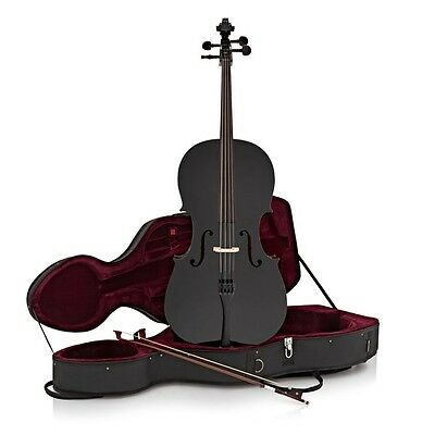 Student 4/4 Size Cello with Case by Gear4music Black