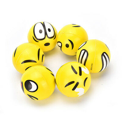 Funny Smiley Face Anti Stress Reliever Ball ADHD Autism Mood Toy Squeeze RelieFG