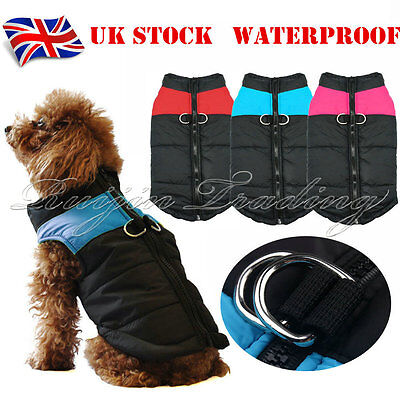 New Dog Pet Waterproof Winter Warm Jacket Coat Outdoor Quilted Padded Puffer