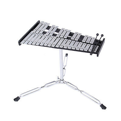 Vintage Xylophone Set 32 notes Aluminum Marimba with 2 Hammers 1 Support musical