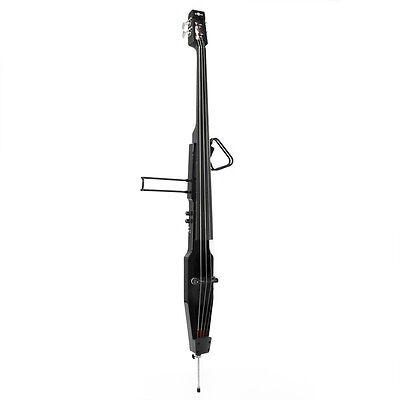 3/4 Size Electric Double Bass by Gear4music Black