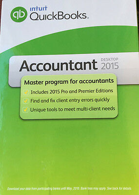 NEW Intuit Quick Books Pro Accountant 2015 w/ Premier Edition PC SEALED