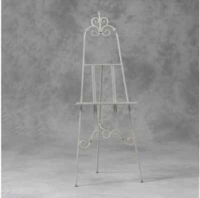 Vintage Style Tall Antique White Display Easel-Wedding Table Plan/picture Stand