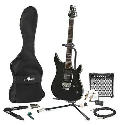 Indianapolis Electric Guitar + Complete Pack Black