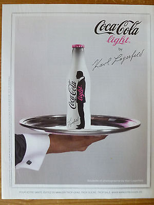 Advertising Publicité BOISSON COCA COLA LIGHT by KARL LAGERFELD 2010