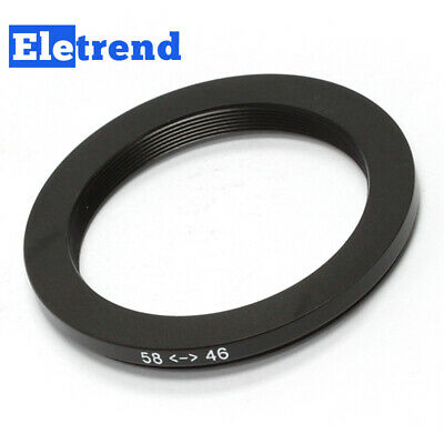 58mm to 46mm 58mm-46mm Male-Famale Step-Down Lens Filter Hood Cover Ring Adapter