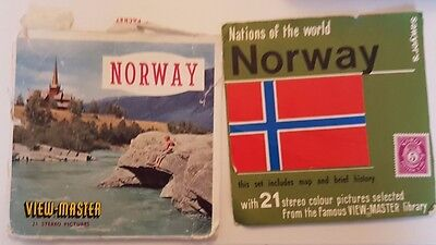 Sawyer's View-Master Norway 14 stereo colour pictures, cover transcript 2 reels
