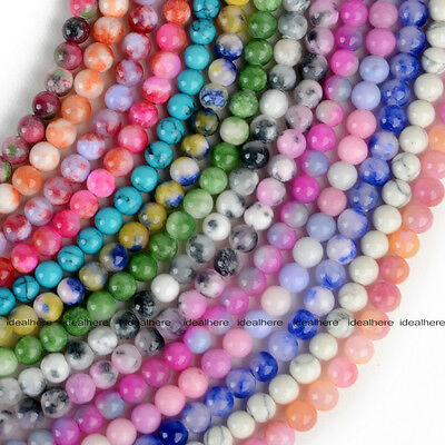 16'' Wholesale Lot Natural Stone Gemstone Round Spacer Loose Beads Strand 6MM