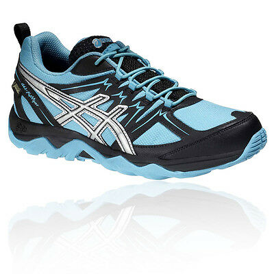Asics Gel Fuji Viper Mujer Azul Gore Tex Impermeable Camino Hiking Zapatos