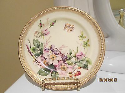 Royal Worcester Plate Signed By W. Ricketts