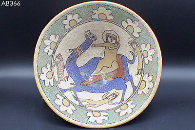 Ancient Islamic Camel Rider Battle Image Ceramic Decorated Plate Bowl #366