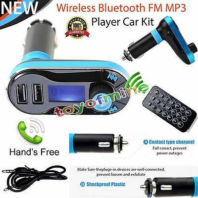 Musica Trasmettitore Wireless FM per auto Bluetooth Mp3 USB Charger mani libere