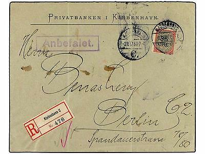 DENMARK. 1912. Registered cover to BERLIN franked by