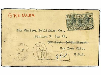 GRENADA: GRENADINES. 1925. Registered cover used to the