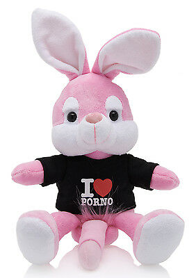 Plüschhase Naughty Bunny Plush 20 cm black Porno Hase Junggesellenabschied